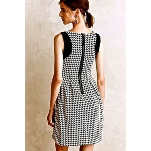 Maeve Four and Four Houndstooth Swing Dress.